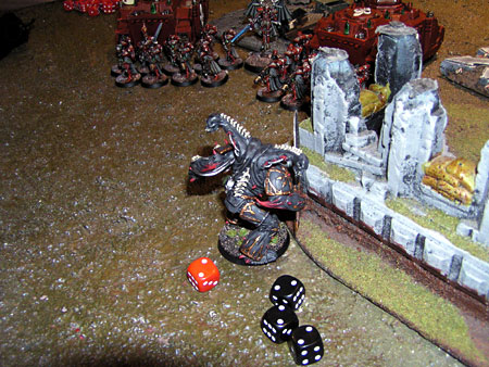 Daemon Prince needed to roll 3's... Fail