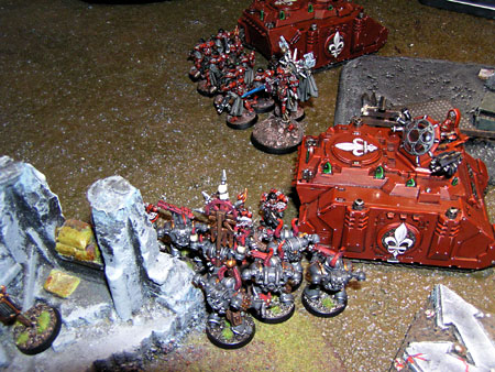Sisters and Chaos Space Marines gets stuck in